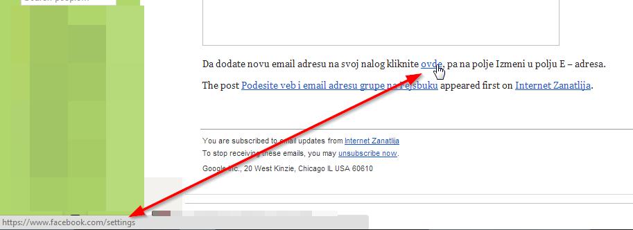 da li je link pravi gmail