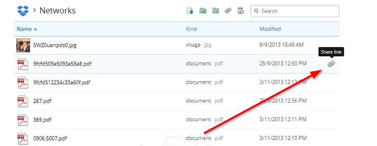 deliti fajl iz dropbox skladista