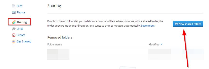 deljeni zajednicki folderi dropbox