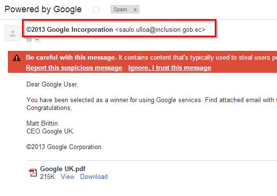 google lazni email