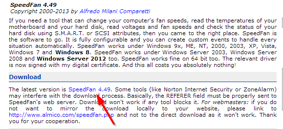 Proverite temperaturu svog procesora i diska pomoću SpeedFan
