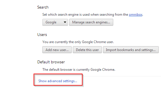 advanced podesavanja chrome