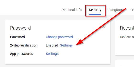 bezbednost vaseg google naloga