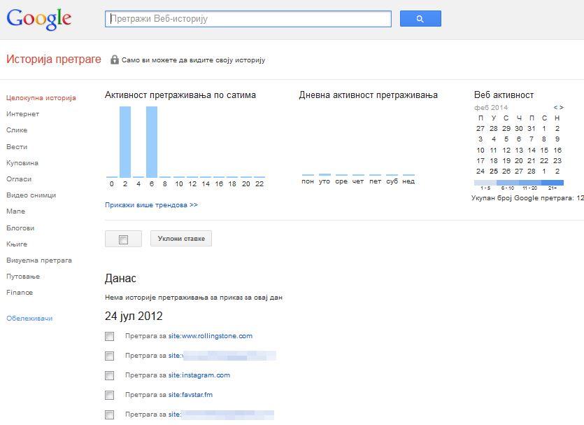 Kako da obrišete istoriju svega što ste ikada pretraživali u Guglu?