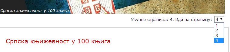 srpska knjizevnost u 100 knjiga