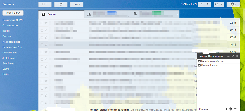 zadaci u gmailu