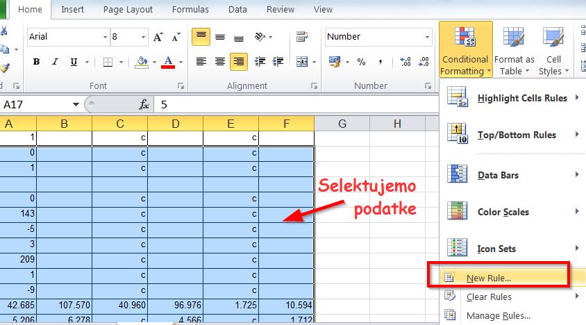 Kako u Excelu da obojite ili označite prazna polja?