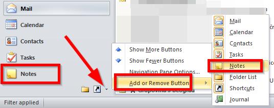 Pisanje beleški u Outlook-u