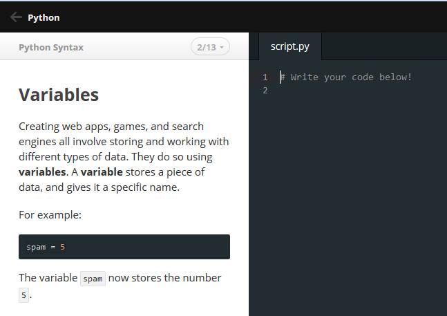 codeacademy sajt