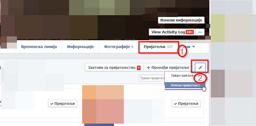 sakriti prijatelje na fejsbuku