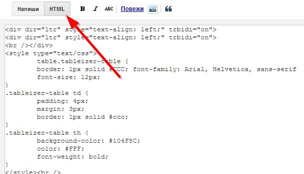 html sekcija na blogu