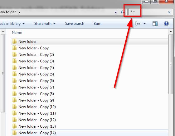 izlistati sadrzaj svih foldera