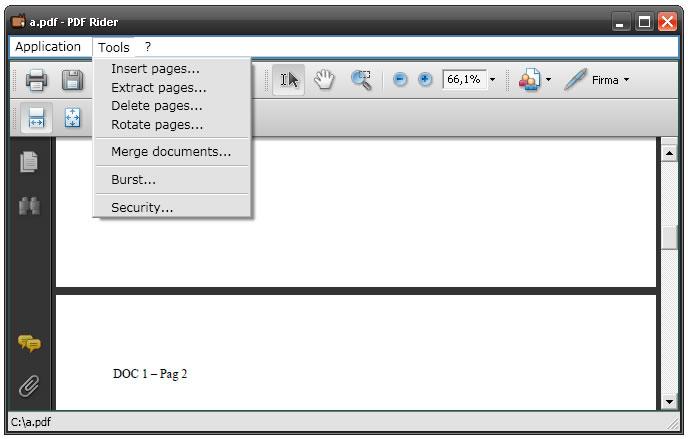 Spisak alata koji omogućavaju da spojite ili razdvojite PDF dokumente