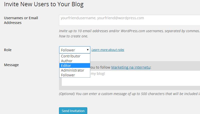 uloga novog korisnika na blogu