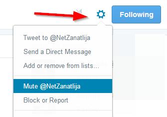 Kako da neprimetno sakrijete nečiji tviter nalog iz svog fida?