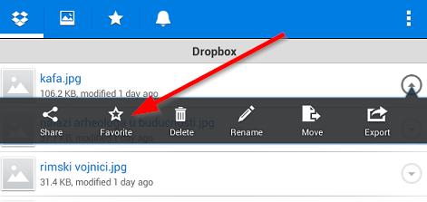 Kopirajte fajlove sa Dropbox naloga na svoj telefon ili tablet