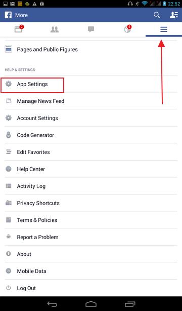 podesavanje fejsbuk aplikacije android