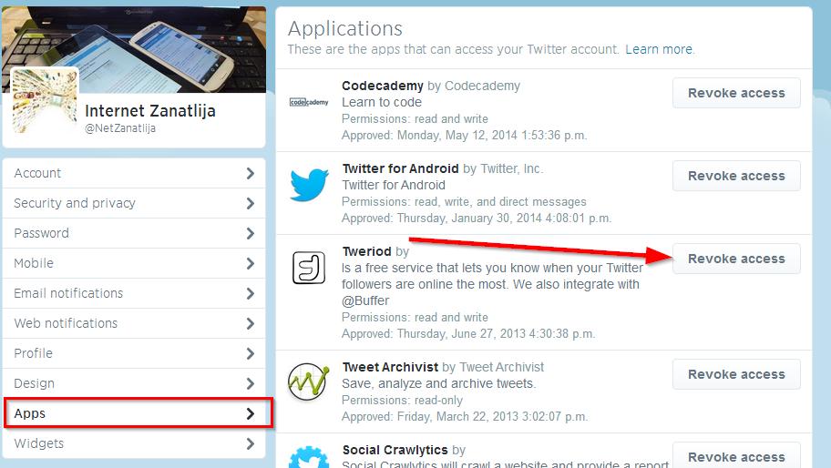 tviter aplikacije