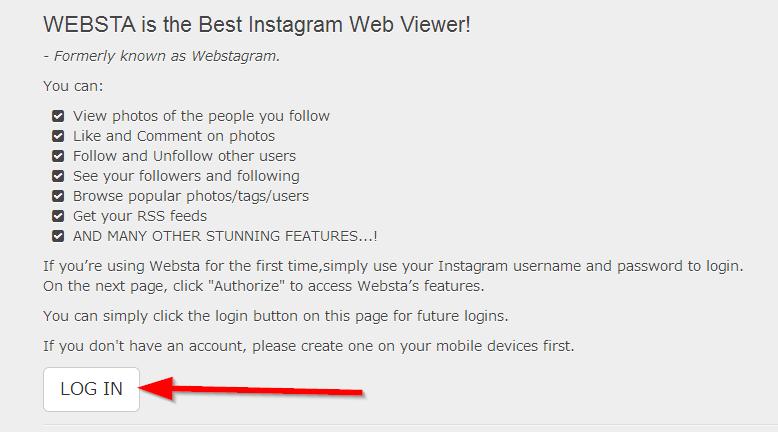 Websta – najbolji pregledač za Instagram preko kompjutera