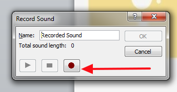 dugme za snimanje glasa powerpoint