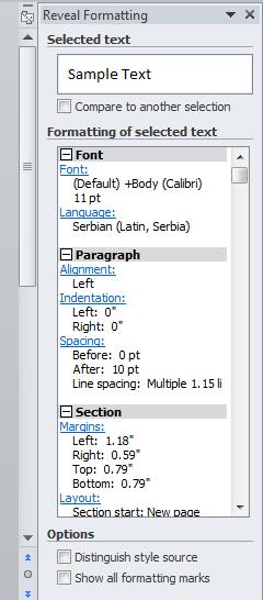 razotkrij formatiranje