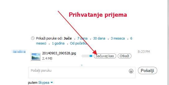 skajp prihvatanje prijema fajlova