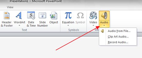 ubaci zvuk sa svog kompjutera u powerpoint prezentaciju