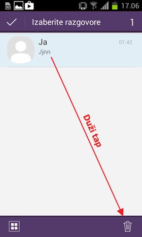 Obrišite samo neke poruke sa Vibera ili WhatsAppa