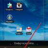 dodavanje foldera na android pocetni ekran
