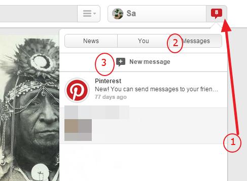 Kako nekome poslati poruku na Pinterestu?