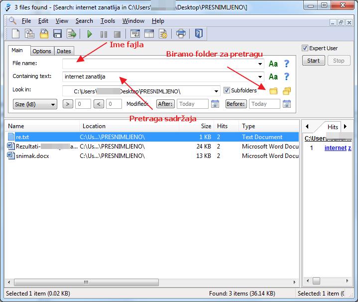 pretraga pdf i tekstualnih fajlova sadrzaj
