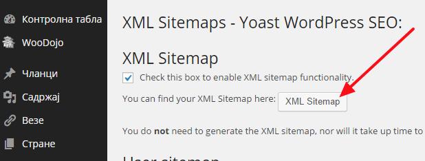 xml mapa sajta wordpress