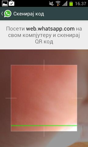 skeniraj kod whatsapp