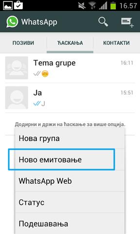 whatsapp cirkularna poruka
