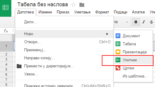 Nekoliko saveta za rad sa Google tabelama