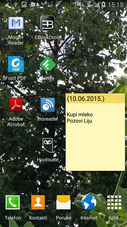 Kako dodati podsetnik na početni ekran Android uređaja?