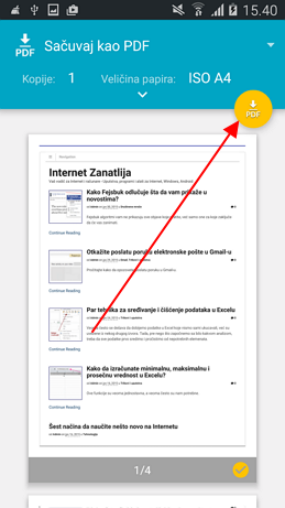 google chrome android sacuvaj pdf