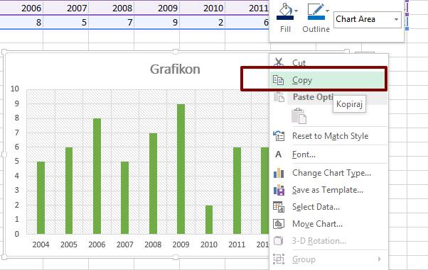Kako da izvezete Excel grafikon u vidu slike?