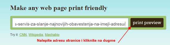 pretvaranje stranice u pdf