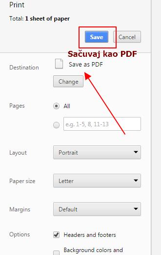 sacuvaj kao pdf stranicu