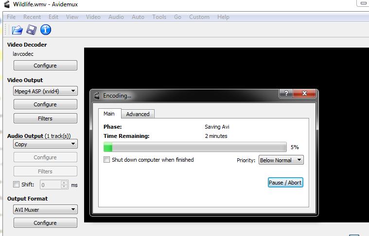 snimanje video zapisa u crno beloj boji