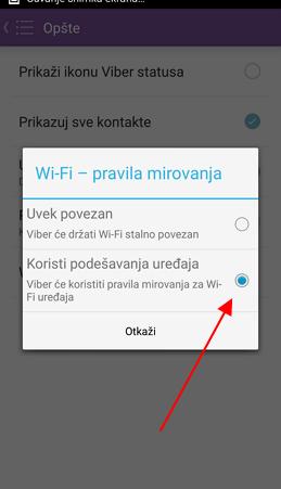 wifi mirovanje na vajberu