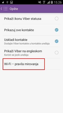 wifi pravila mirovanja