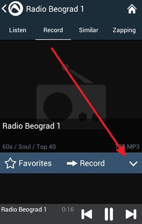 snimite radio stanicu telefon tablet