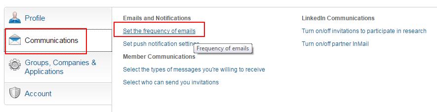 ucestalost mejlova na linkedinu