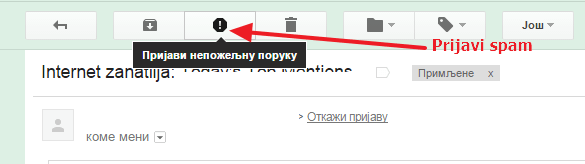 prijavi spam postu