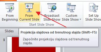 projekcija slajdova