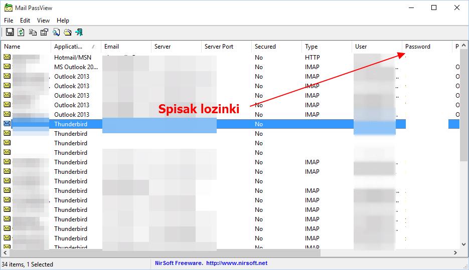 program za izvlacenje lozinki mejl