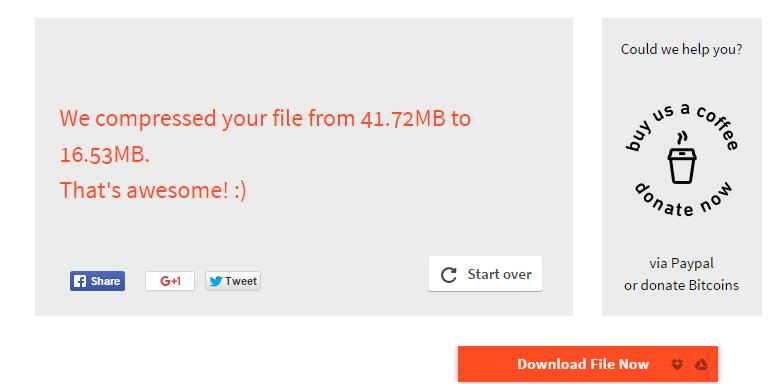 kompresovali smo pdf fajl