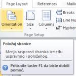 Kako da promenite položaj samo nekih stranica u Wordu?
